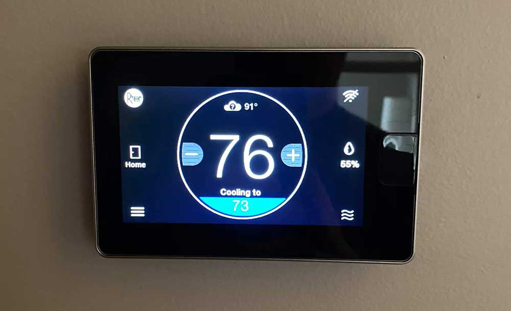 Setting the Temperature on thermostat